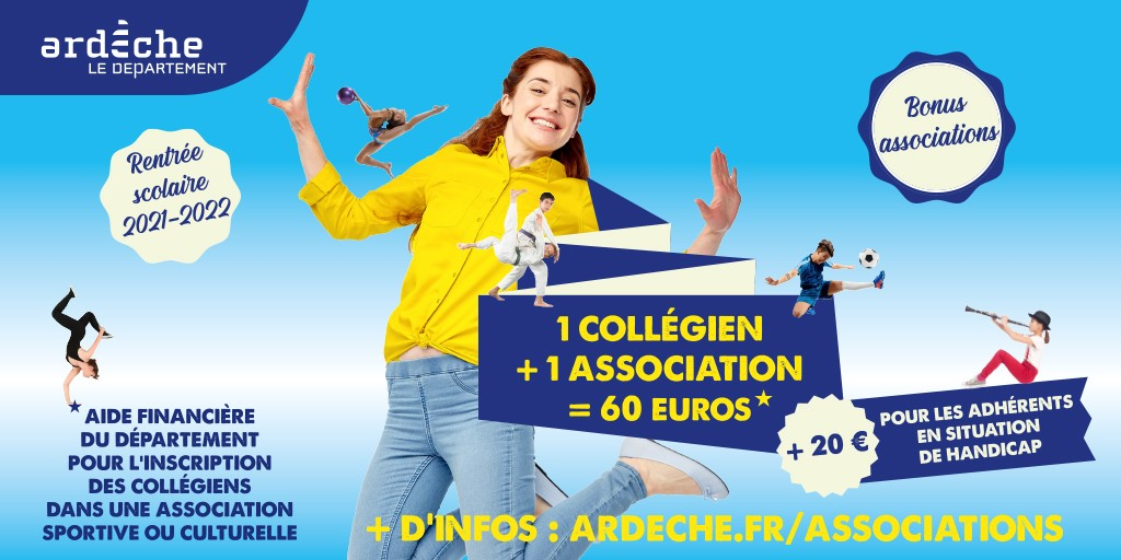 Subvention de 60€ pour les collégiens